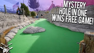 WINNING FREE GAMES OF MINI GOLF WITH HOLE IN ONES!