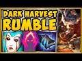 WTF! *NEW* DARK HARVEST ON RUMBLE IS TOO BROKEN! RUMBLE SEASON 9 TOP GAMEPLAY! - League of Legends