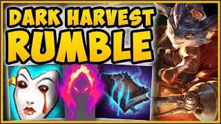 WTF! *NEW* DARK HARVEST ON RUMBLE IS TOO BROKEN! RUMBLE SEASON 9 TOP GAMEPLAY! - League of Legends