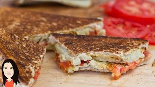 Vegan Grilled Cheese And Tomato Sandwich - Yum!