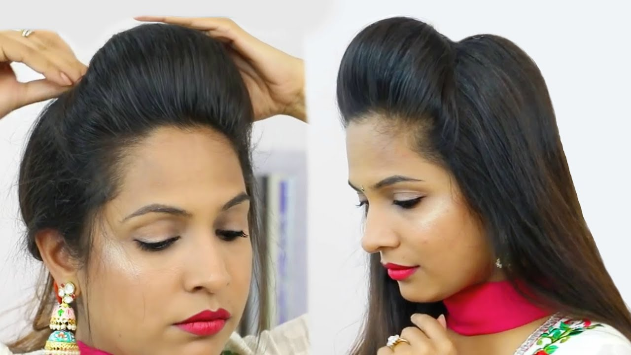 NEW High Puff Hairstyles - Easy Hairstyles for School, College, Work| Shruti Arjun Anand - YouTube