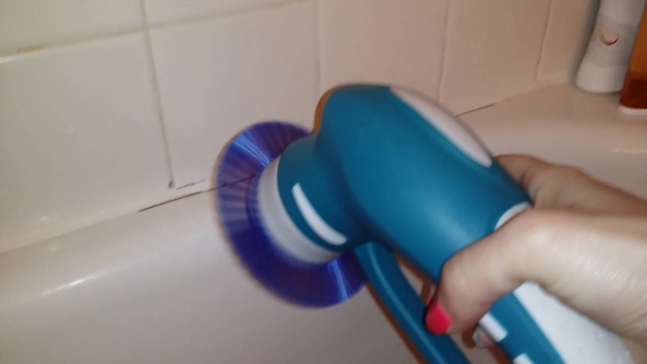 Cleaning The Bathtub With The Pure Dome Power Scrubber YouTube - Automatic bathroom scrubber