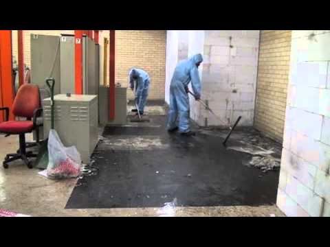 Asbestos Tiles and Mastic Removal with FoamShield  YouTube
