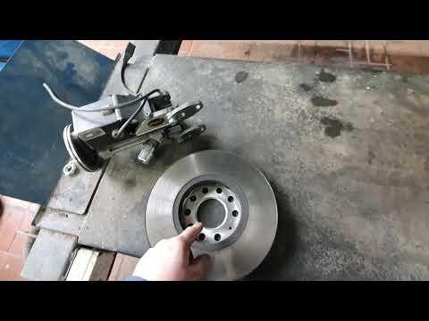 Ауди А6. Проточка тормозных дисков.