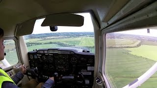 Cross country qualifier Chichester Goodwood Airport landing