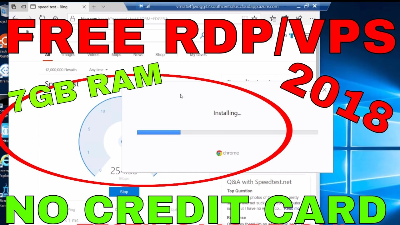 Get RDP/VPS with 7GB Ram For FREE | NO CREDIT CARD NEEDED |New Method & Can  Install new Softwares