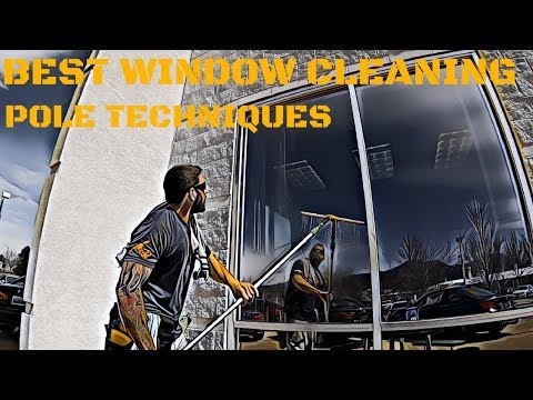 BEST WINDOW CLEANING POLE TECHNIQUES | BASIC TO ADVANCED