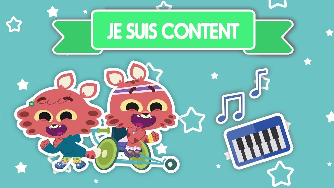 🎵 JE SUIS CONTENT 🎵 Les jumeaux Paprika   Musique pour enfant