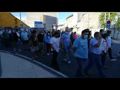 Protesta de los trabajadores de las auxiliares de Endesa