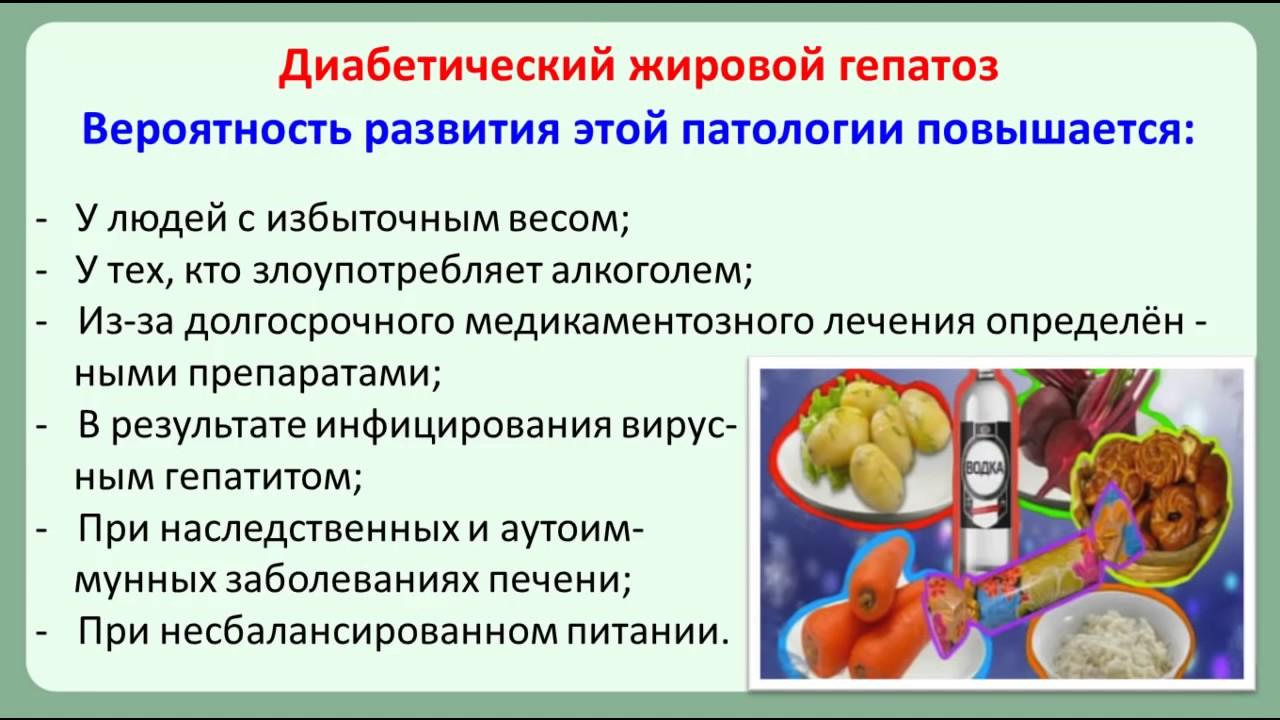 Жировой гепатоз печени и сахарный диабет