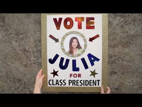 Create Election Posters That Win Class President Poster Idea