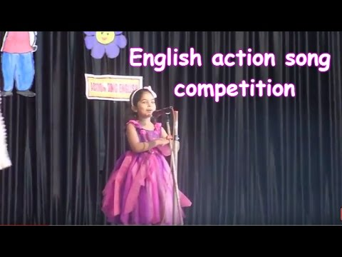 English action song competition kids fest