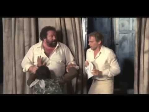 Bud Spencer e Terence Hill - Bud Spencer insegna lo schiaffone con eco a Bastiano