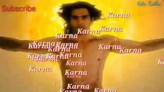 Suryaputra karna mahabharat ||