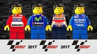MotoGP 2017 Qatar • Brick Film Ducati Yamaha Honda Suzuki • Film Lego MotoGP