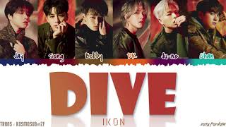 Gambar cover iKON - 'DIVE' (뛰어들게) Lyrics [Color Coded_Han_Rom_Eng]