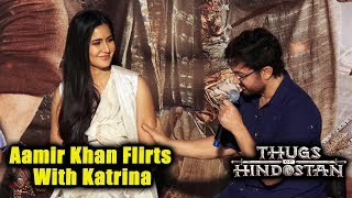 Aamir Khan Flirts With Katrina At Thugs Of Hindostan Trailer Launch