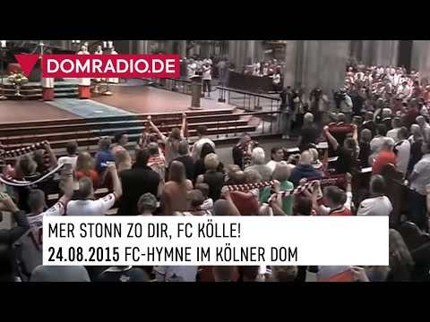 Hymne des 1. FC Köln im Kölner Dom