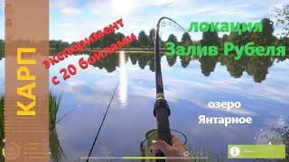Русская рыбалка 4 - озеро Янтарное - Карп снова эксперименты с бойлами