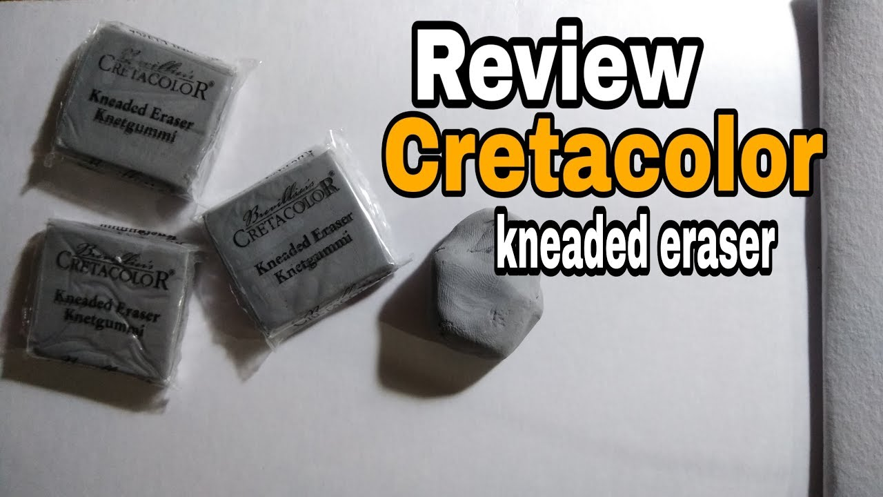 Review of CRETACOLOR Kneaded Eraser in Hindi -Paint With Roshan