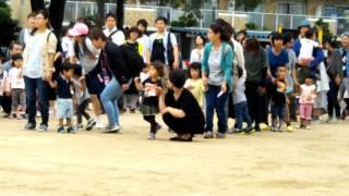 来年、蘭ちゃんが行く幼稚園の運動会に幼児競争で参加しました。