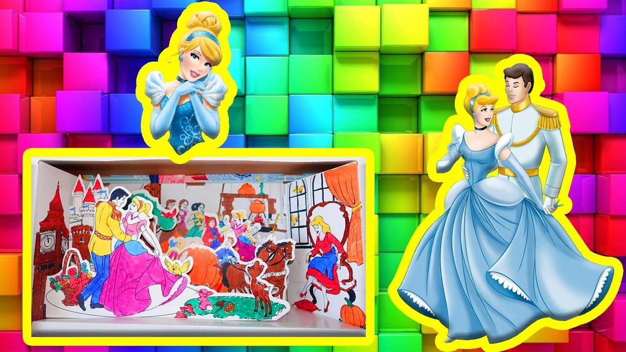 Oyuncak Dünyası Külkedisi Sindirella Boyama Kutusu Yapma Ve Renkleri