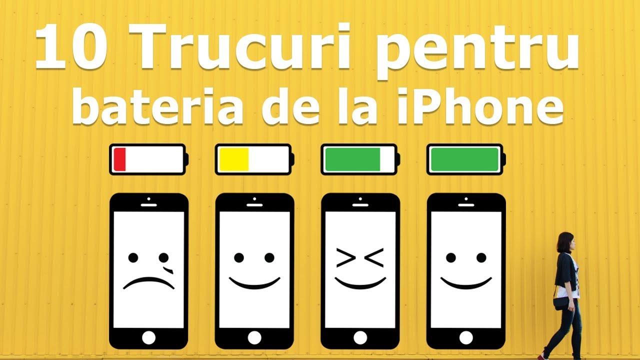 10 trucuri ca să țină mai mult bateria la iPhone