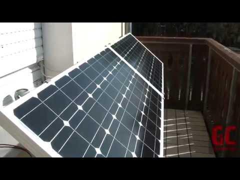 200 Watt Solaranlage Selber Bauen Inselanlage Auf Balkon Part2