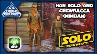 Han Solo Mimban and Chewbacca Mimban Force Link 2.0 Action figures