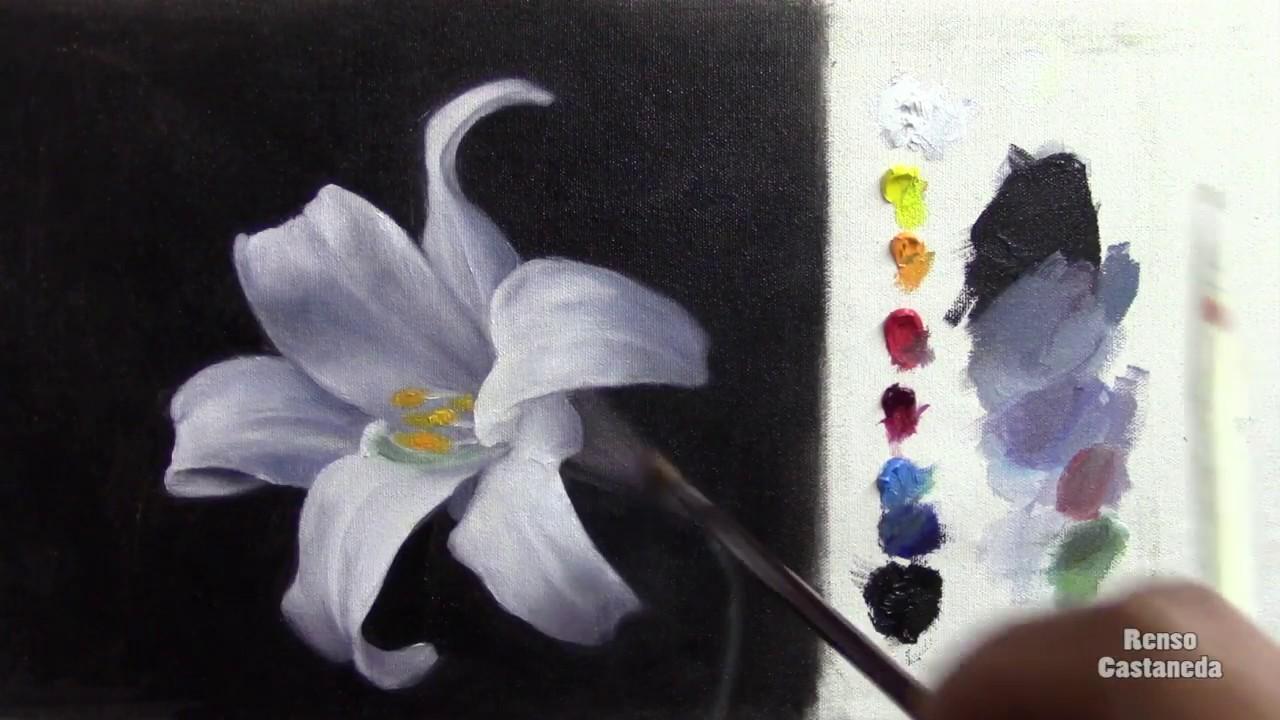 Como Pintar Una Flor Con óleo