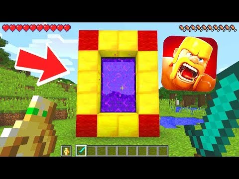 Thumbnail: HOW TO MAKE A PORTAL TO THE CLASH OF CLANS DIMENSION - MINECRAFT CLASH OF CLANS
