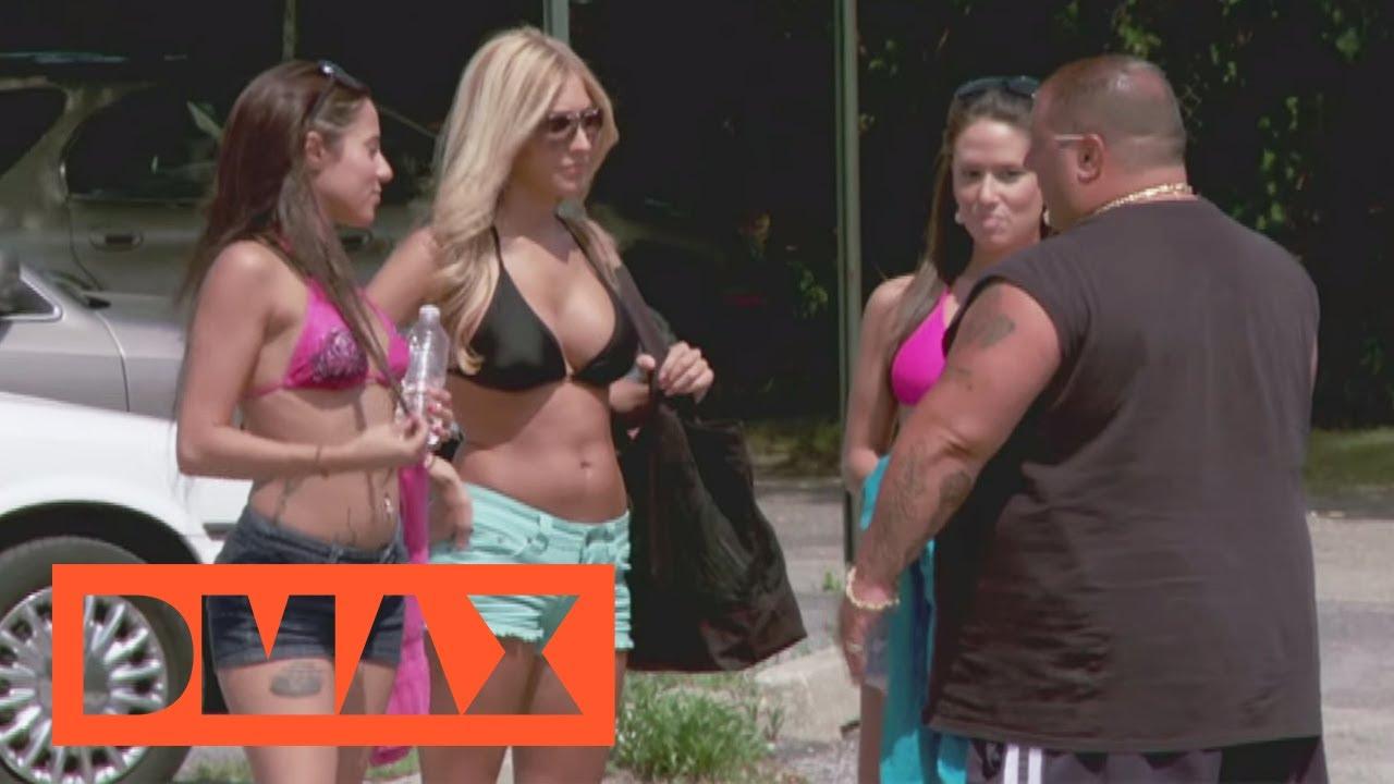 bikini auto bild waschen