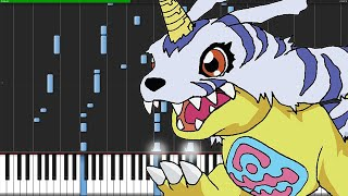 Brave Heart - Digimon [Piano Tutorial] (Synthesia)