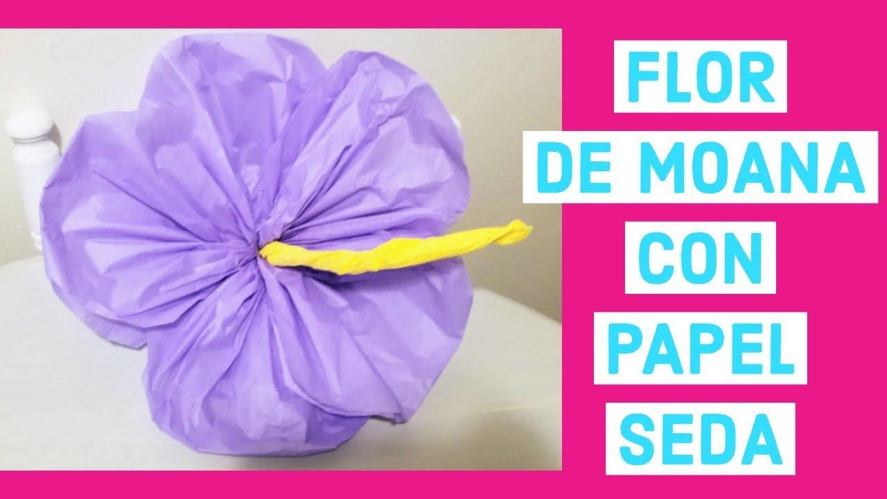 Flor Hawaiana En Papel Youtube