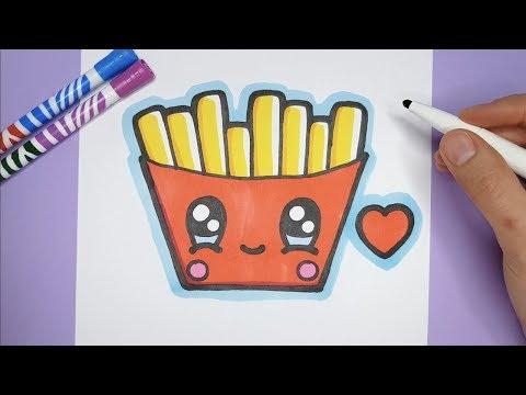 Kawaii Pommes Frites Zeichnen Und Malen - Kawaii Bilder