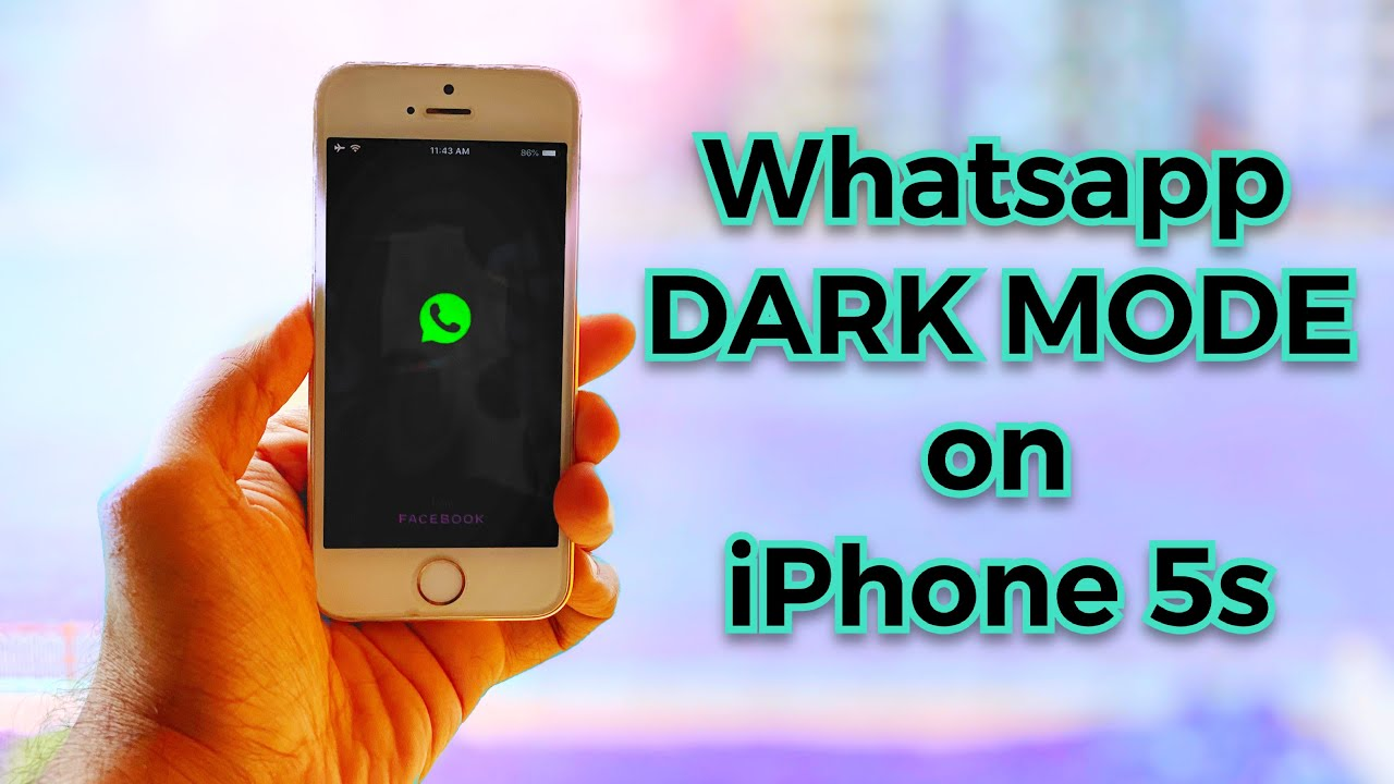 How To Get DARK MODE in Whatsapp on Your iPhone 20s   YouTube