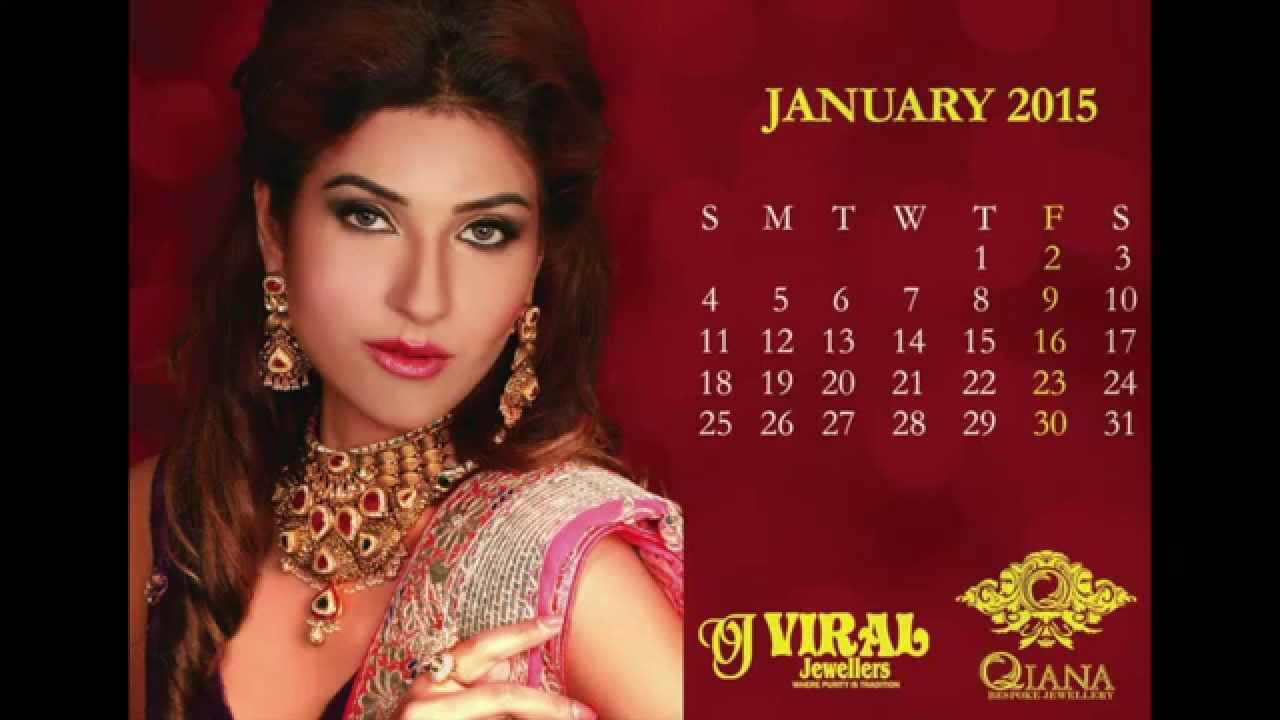 2015 Couture Calendar Anjali K Couture with Viral Jewellers - YouTube