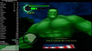 [WR] Hulk: Ultimate Destruction NG+ (Cheats) Easy Speedrun in 1:12:38