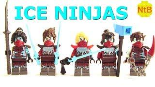 LEGO NINJAGO SEASON 11 CUSTOM ICE NINJA MINIFIGURES