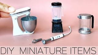 DIY Miniature Kitchen Appliances & Items
