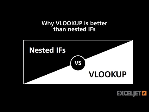 Why VLOOKUP is better than nested IFs