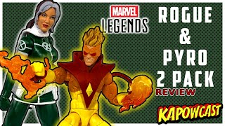 MARVEL LEGENDS ROGUE AND PYRO 2 PACK REVIEW