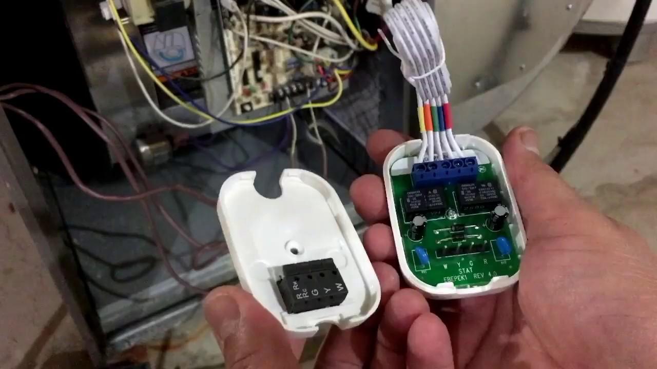 medium resolution of ecobee3 install with power extender kit pek