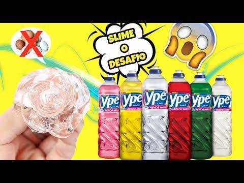 Slime De Detergente SEM Ovo FUNCIONA?? Eu Testei! SLIME CHALLENGE