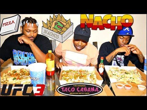 3 LARGE Pizza Boxes FULL of Kickin' Grande Nachos  (Taco Cabana)🌮🌯