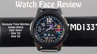 Watch Face Review : MD133 Samsung Galaxy Watch Gear S3 Gear Sport Gear S2
