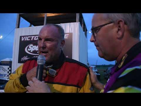 Ryan Dolan talks about his Benton County Speedway victory Sunday night