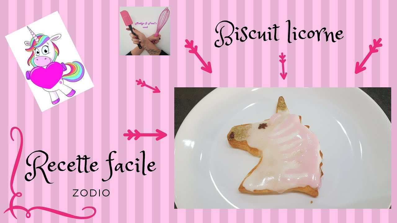 Biscuit Licorne Recette Facile Girly Youtube