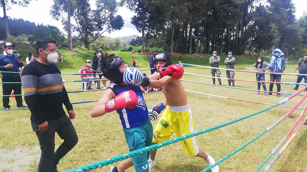 Sebastián Ortega (el club de la pelea) R1 vs Ismael Matute (boxing Club Gualaceo)