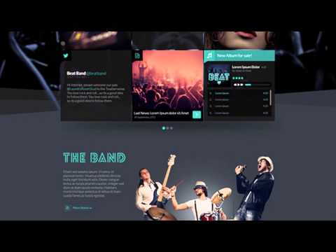 Beat One Page Music & Band Joomla Template - Video ServerThemes.Net